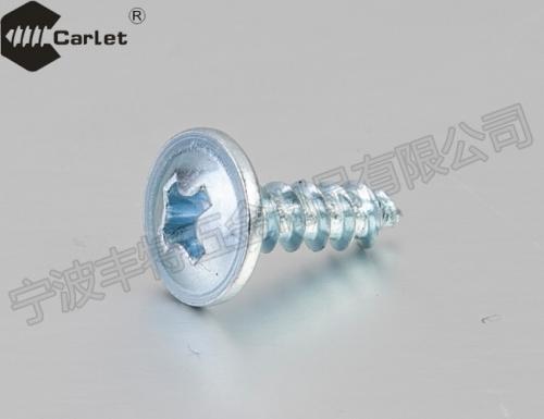 十字槽平圆头带垫自攻螺钉(KLT845-1976) 蓝白锌