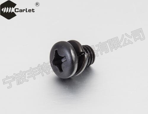 十字槽盘头螺钉和弹簧垫圈组合件(GBT9074.3-1988)